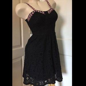 NWOT XHILARATION juniors Embroidered Lace Dress XS